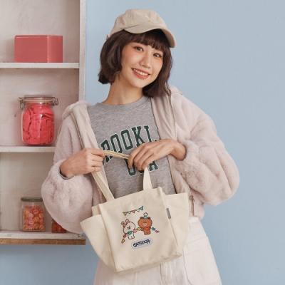 【OUTDOOR】LINE聯名款-派對帆布提袋-米色 ODBF20D04BG