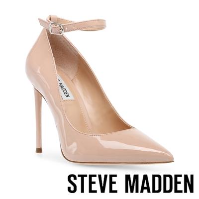 STEVE MADDEN-VONNA 尖頭繞踝後包高跟鞋-鏡粉色