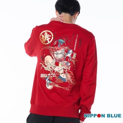 日本藍 BLUE WAY – 賀年狀打達摩圓領長TEE(紅)