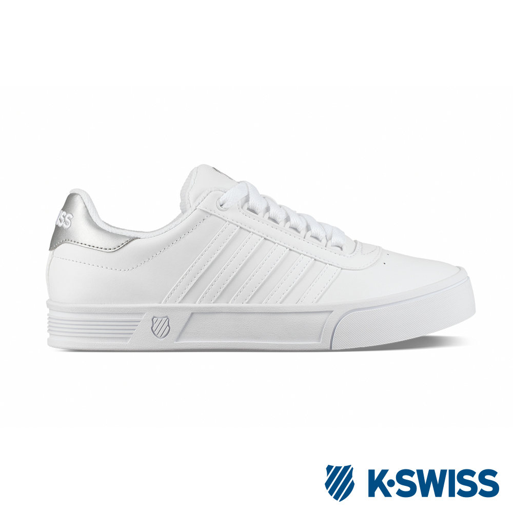K-SWISS Court Lite Stripes休閒運動鞋-女-白/銀
