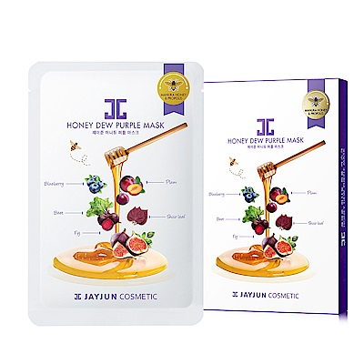 JAYJUN 蜂蜜紫莓蜜光童顏美白面膜(5入/盒)