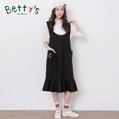 betty's貝蒂思 微透滿版繡花泡泡袖襯衫(白色)