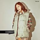 H:CONNECT 韓國品牌 女裝-亮眼格紋毛呢襯衫-卡其