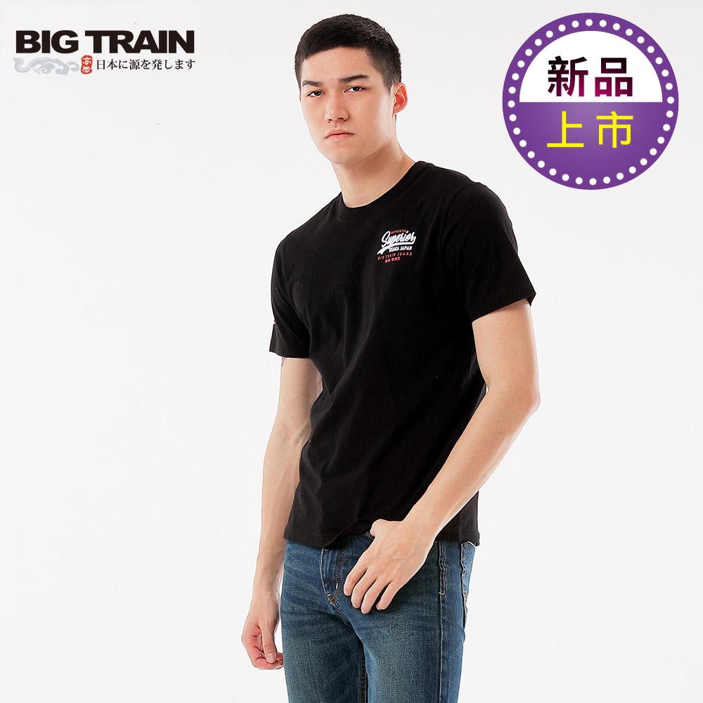 BigTrainLOGO文字圓領短袖T-男-黑色 product image 1