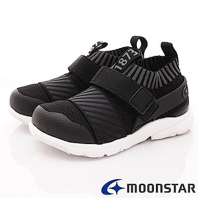 日本月星頂級競速童鞋 襪套忍者鞋款 TW2286黑(中小童段)