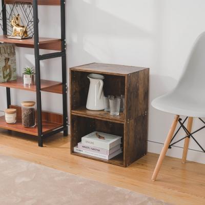 樂嫚妮 收納櫃/置物櫃/空櫃-2入組-仿木色