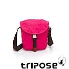 tripose MEMENTO系列微皺尼龍輕量防潑水郵差包 桃