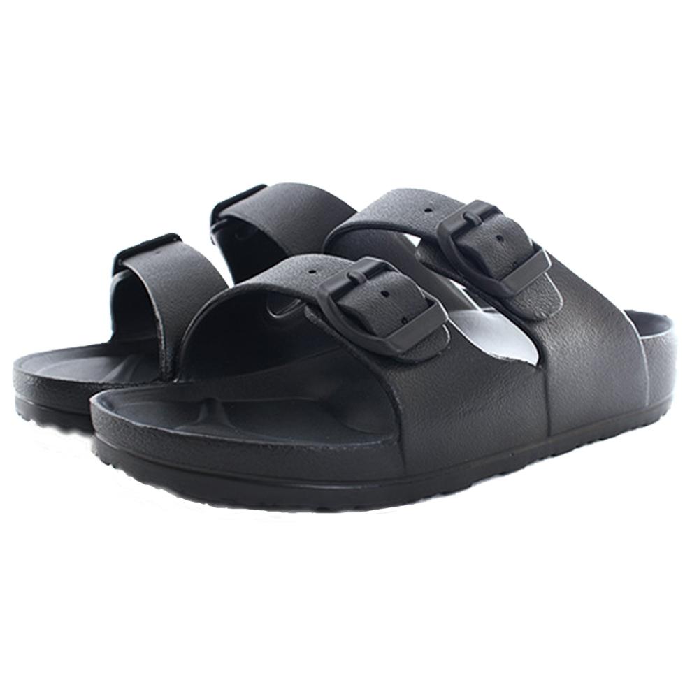 男經典時尚雙扣休閒拖鞋 sd5032 魔法Baby