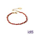 ides愛蒂思 時尚設計18K轉運珠紅繩手鍊/幸運紅繩