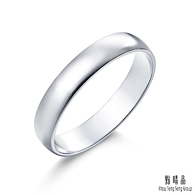 點睛品 Promessa 經典素面 18K金情侶結婚戒指-女戒