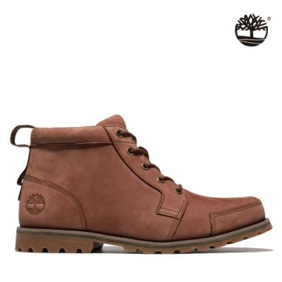 Timberland 男款中棕色磨砂革查卡靴|A41ZG