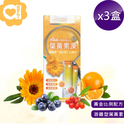 必爾思 亮晶晶葉黃素雙效凍 - 3 盒組(20克 X 21條) 游離型葉黃素QQ 凍