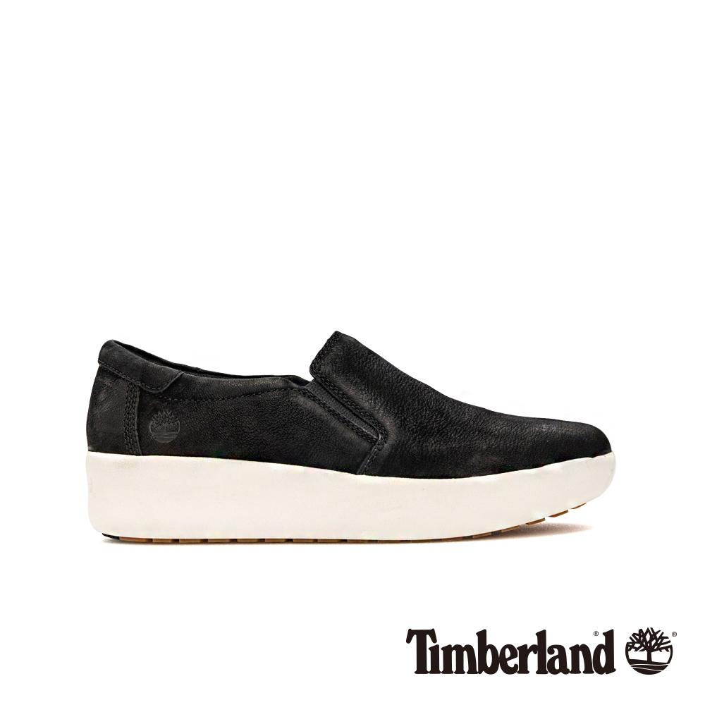 Timberland 女款黑色磨砂革休閒鞋|A1M97