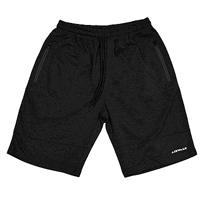 【AIRWALK】簡約休閒運動短褲-黑色