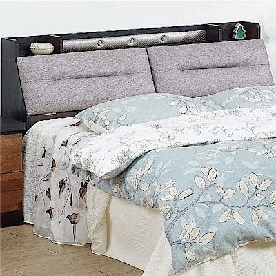 綠活居 邁斯里5尺貓抓皮革雙人床頭箱(二色+不含床底)-151x30x90cm免組