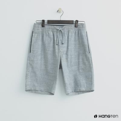 Hang Ten - 男裝 - 鬆緊休閒西裝短褲-淺灰