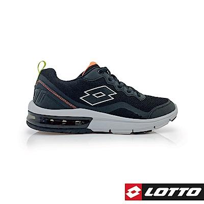 LOTTO 義大利 男 FLUX 避震氣墊跑鞋  (黑灰)