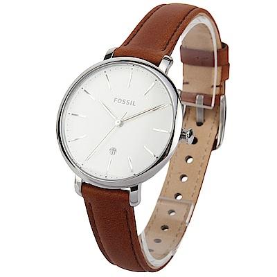 FOSSIL Jacqueline 簡約經典三針休閒腕錶-(ES4368)-36mm