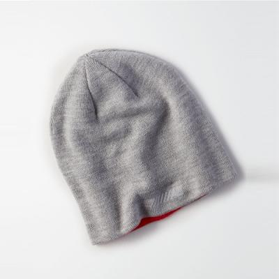 American Eagle AE 美國老鷹 經典標誌印刷雙面毛帽-紅灰色