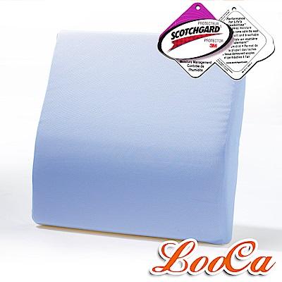 LooCa 吸濕排汗釋壓腰靠墊-粉藍