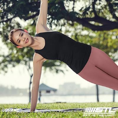 STL yoga bra T SS Balance Slim 韓國瑜珈 運動機能訓練背心上衣(含胸墊)平衡黑