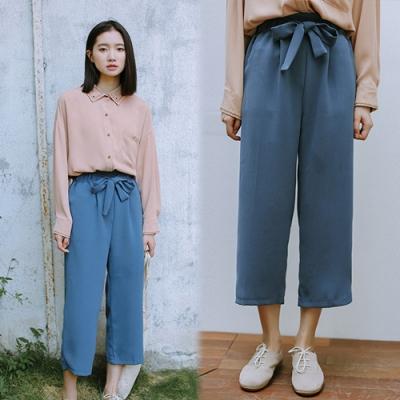 【韓國K.W.】(預購)休閒女孩舒適雪紡褲-1色