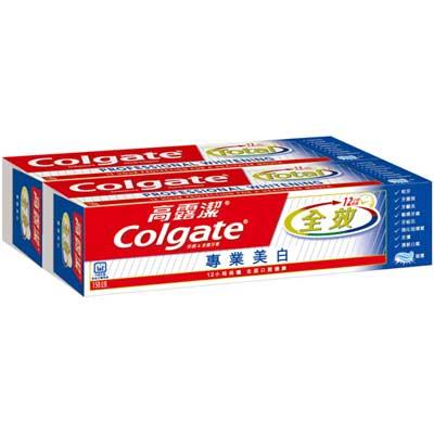 高露潔 全效專業美白牙膏 150gX2入