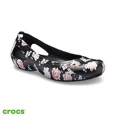 Crocs 卡駱馳 (女鞋) 卡笛印花平底鞋 205862-97J