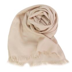 COACH 經典緹花LOGO羊毛混絲針織披肩圍巾(奶茶杏)