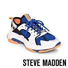 STEVE-MADDEN-GRADUALLY 異材質撞色拼接厚底老爹鞋-藍橘拼接