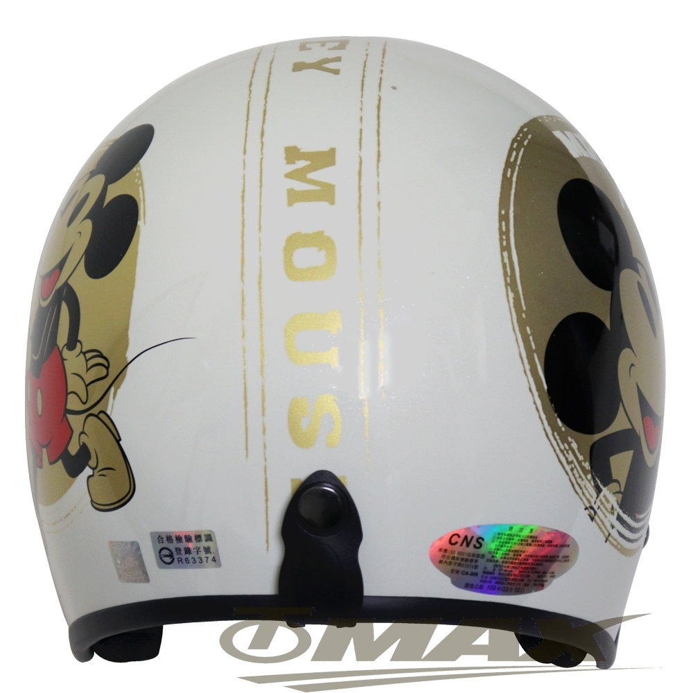 金米奇半罩式機車安全帽-白色+抗uv短鏡片+6入安全帽內襯套