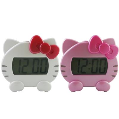 HELLO KITTY可愛貓頭電子語音報時鬧鐘 JM-F501KT