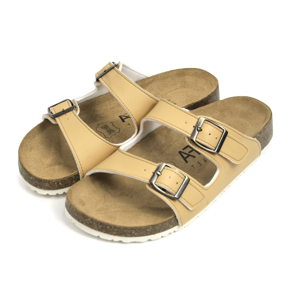 BuyGlasses 經典雙帶釦男款拖鞋-黃