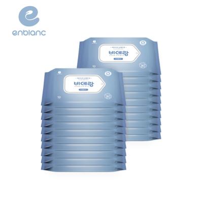 滿額送超贈點!【箱購】ENBLANC濕式衛生紙 - 一般型無蓋攜帶裝10抽20包 / 箱 (可丟棄於馬桶)