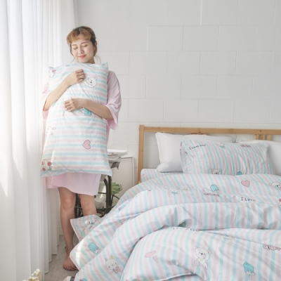 BUHO 天然嚴選純棉4.5x6.5尺單人被套(花糖朵朵)