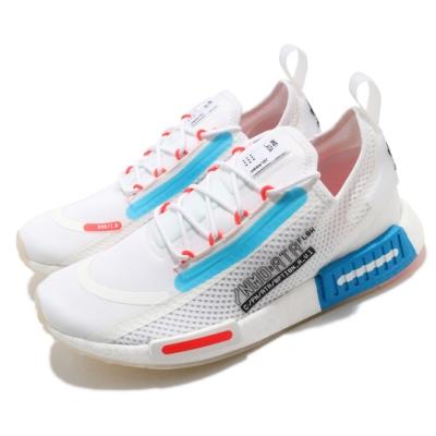 adidas 休閒鞋 NMD R1 Spectoo 襪套式 男鞋 愛迪達 三葉草 運動休閒 Boost 緩震 白 藍 FZ3629