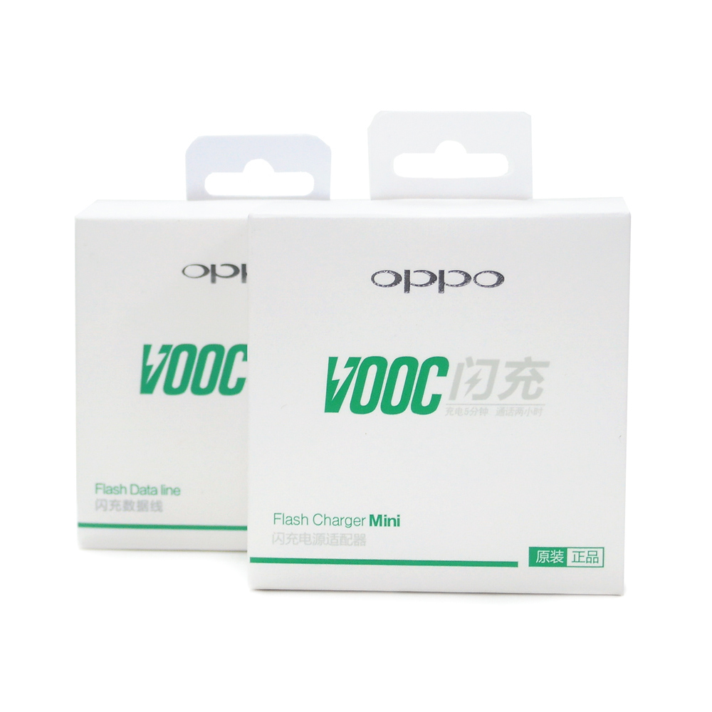 OPPO VOOC mini 原廠閃充電源適配器AK779+ USB 閃充傳輸線(盒裝)