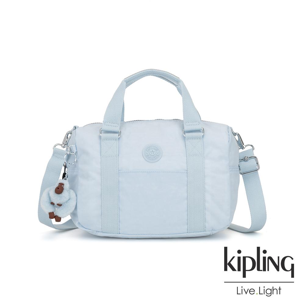 Kipling 棉花糖藍手提側背包-CASKA