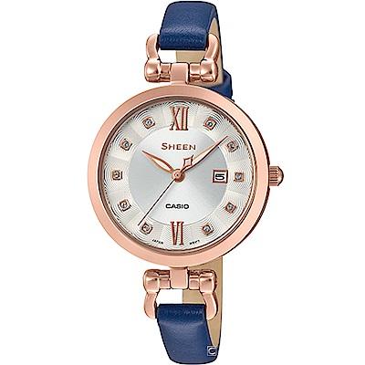 CASIO SHEEN 氣質優雅時尚腕錶 (SHE-4055PGL-7A)30mm