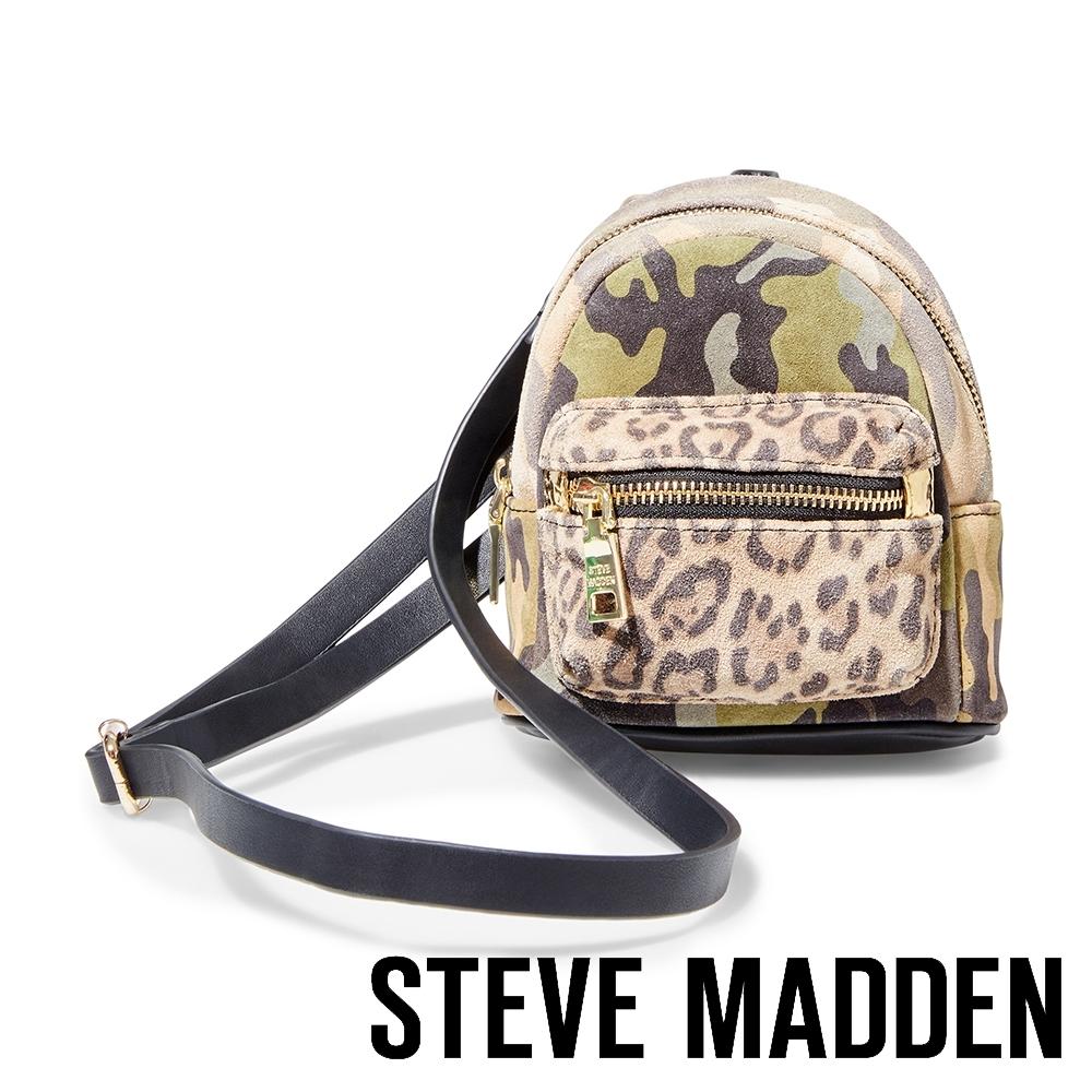 STEVE MADDEN-BTABBIE 潮流豹紋拼接迷彩母子後背包-迷彩色