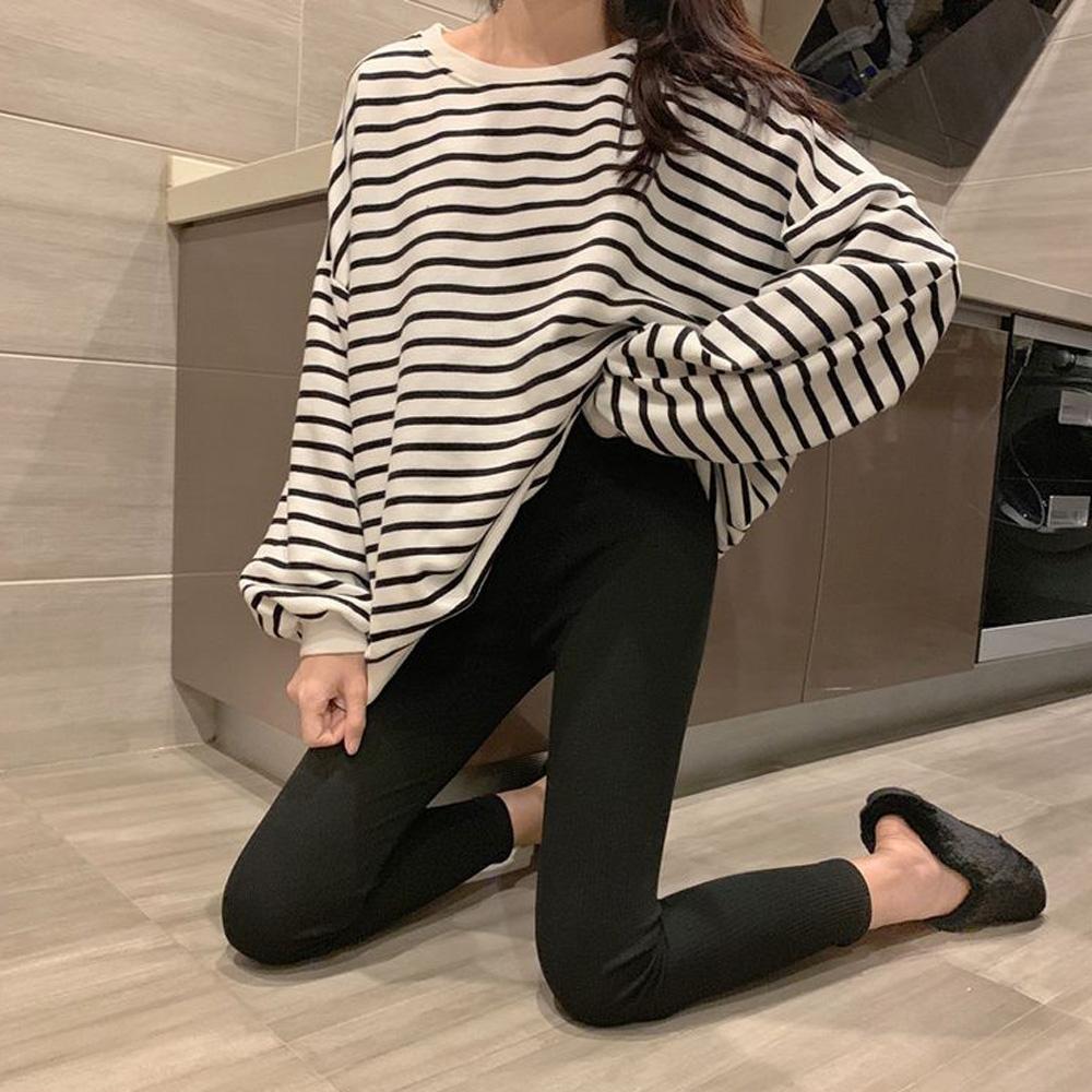 名模天后-韓版素面緊身內刷毛長褲-2色(F)