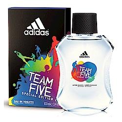 adidas愛迪達 五人團隊運動男性淡香水100ml-快速到貨