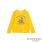 GIORDANO 童裝童趣塗鴉風印花長袖T恤-32 陽光黃