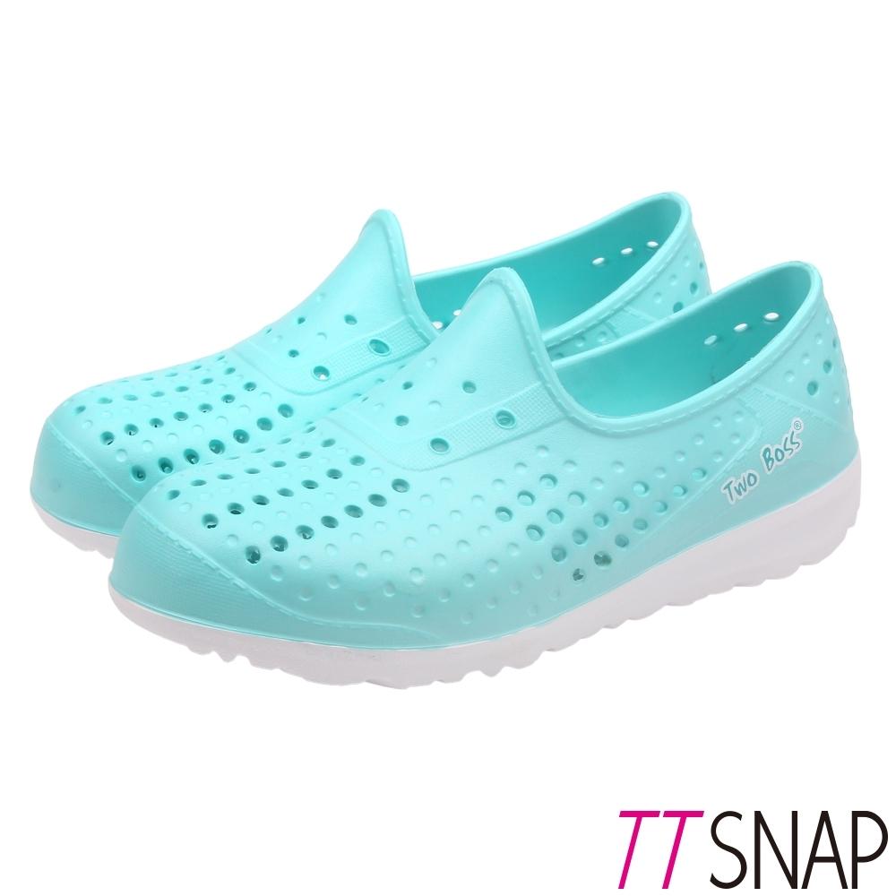 TTSNAP平底鞋-輕巧防水透氣洞洞鞋 綠