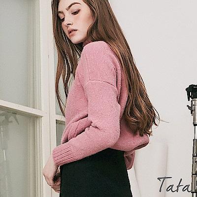 寬鬆坑條針織上衣 共二色 TATA