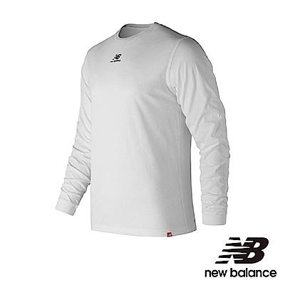 New Balance 棉質LOGO長袖T恤 AMT83537WT 男性 白色
