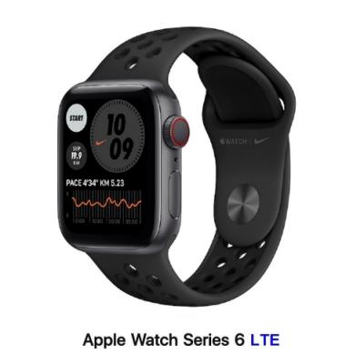 Apple Watch Nike+ S6 40mm LTE版 太空灰鋁金屬錶殼配黑Nike運動錶帶