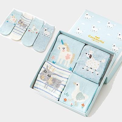 秋冬寶寶中筒卡通童襪4雙組-萌系動物