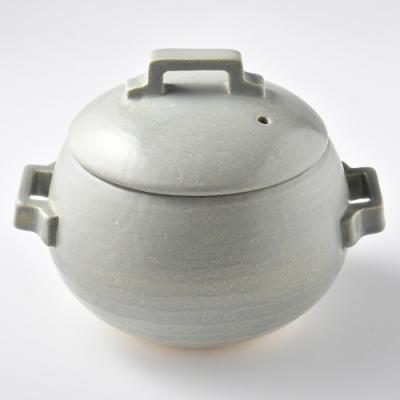 Tojiki Tonya萬古飯鍋1.8L-莫藍迪灰