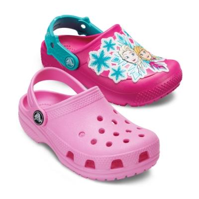 【時時樂限定】Crocs卡駱馳 (童鞋) 粉紅小克駱格(2款任選)